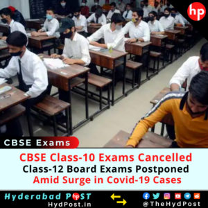 Read more about the article CBSE Class-10 Exams Cancelled, Class-12 Board Exams Postponed, Amid Surge in Covid-19 cases