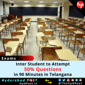 Read more about the article Inter Student to Attempt 50% Questions in 90 Minutes in Telangana