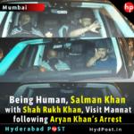 Salman Khan with Shah Rukh Khan, Visit Mannat following Aryan Khan's Arrest